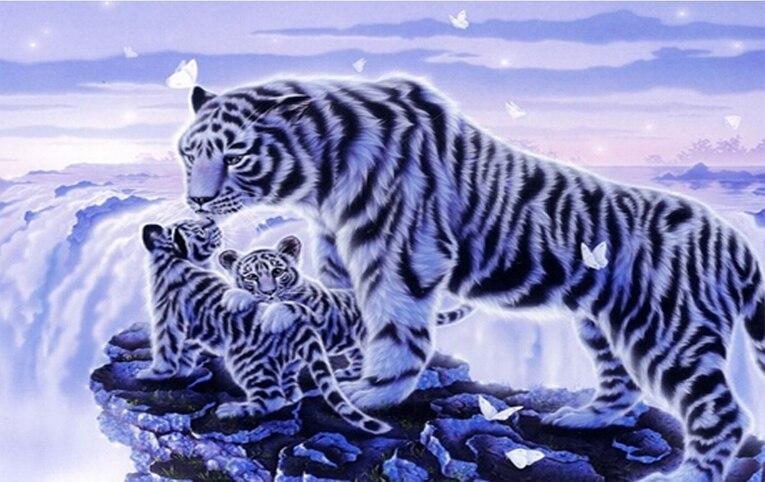 Nagykereskedelmi gyémánt festés tigris 3D gyöngyös hímzés - Művészet, kézművesség és varrás