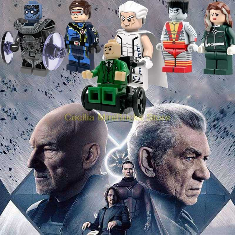 Legoing X-Men Marvel Wolverine Jean Grey Professor X Magneto Apocalypse Rogue Legoings Thanos Building Blocks Toys for Children