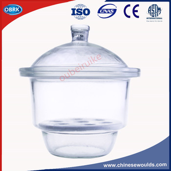 Inner Diameter 150MM Glass Dryer Lab Use Glass Desiccator With Magnetic Plate