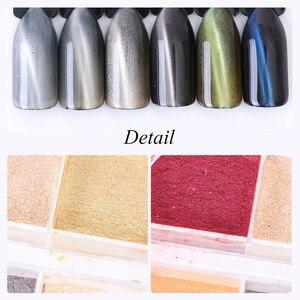 Image 3 - 12 rejillas de purpurina 3D para uñas, juegos de polvos de ojo de gato, pigmento magnético mágico para decoración de uñas, imán cromado para polvo TR813