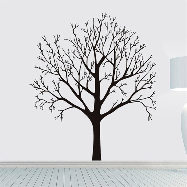 DIY Black Tree PVC Wall Stickers Room Murals Removable Plane Wall Sticker  Home Room Coffee Shop Part 48