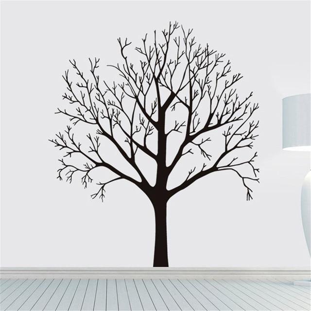 DIY Black Tree PVC Wall Stickers Room Murals Removable Plane Wall Sticker  Home Room Coffee Shop Part 48