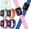26 colores de silicona venda de reloj con conector adaptador para apple watch band para iwatch aw2ss