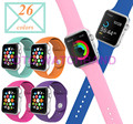 Silicone 26 Colors Watch Band With Connector Adapter For Apple Watch Band For iWatch  AW2SS