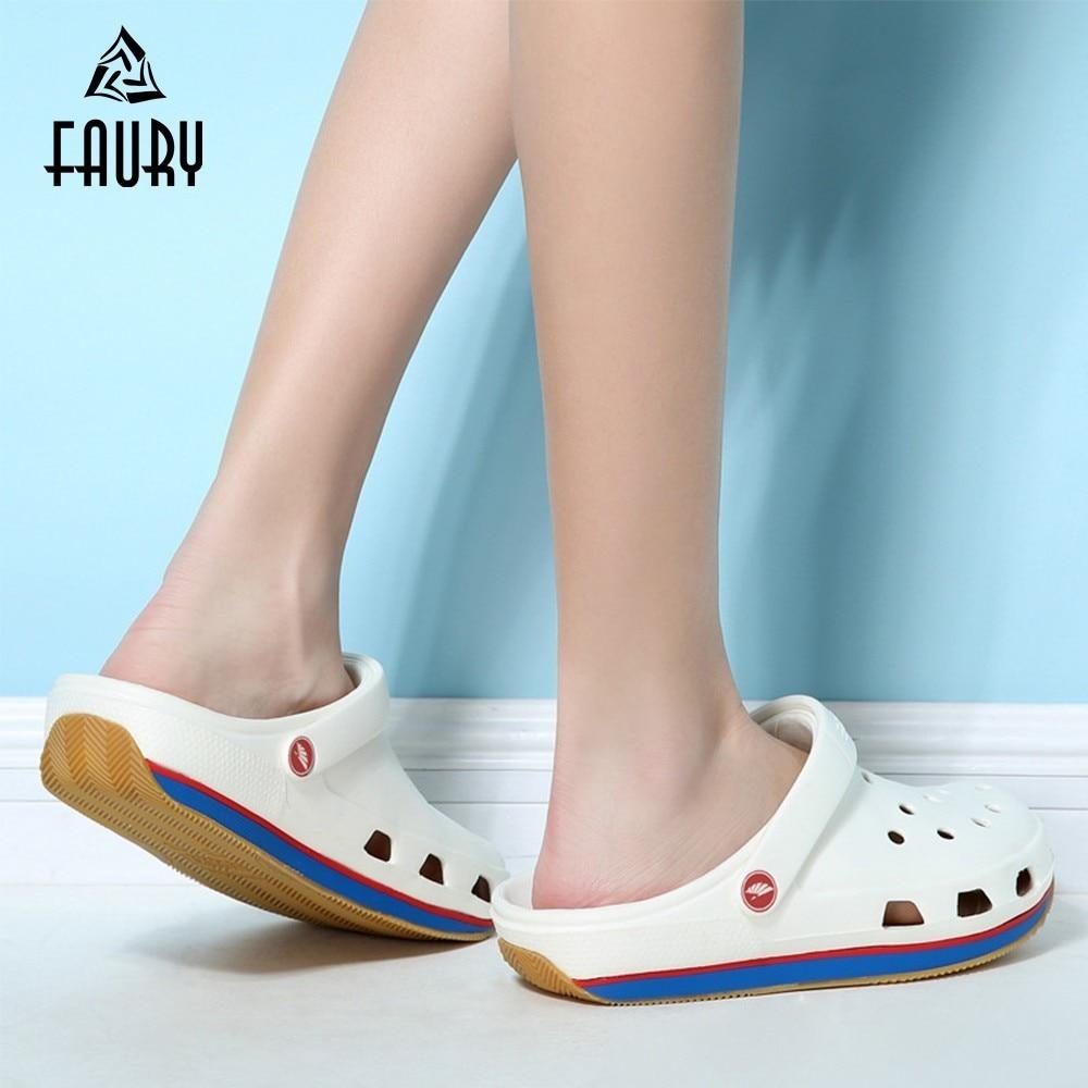2019 Tendon Bottom Nurse Doctor Women Men Shoes Outdoors Non-slip Sandals Slipper Scrubs Medical Uniforms Medico Jaleco Feminino