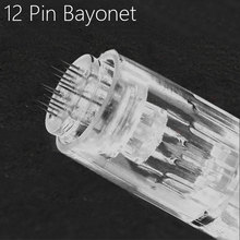 10pcs 12Pin Needle Derma Pen Bayonet Cartridge For Electric Auto Microneedle Derma Pen 12 Pin Nano MYM Needles Tip
