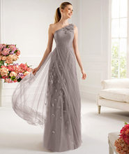 free shipping 2013  New Long One Shoulder Evening Party Formal Cocktail Prom Dresses custom size