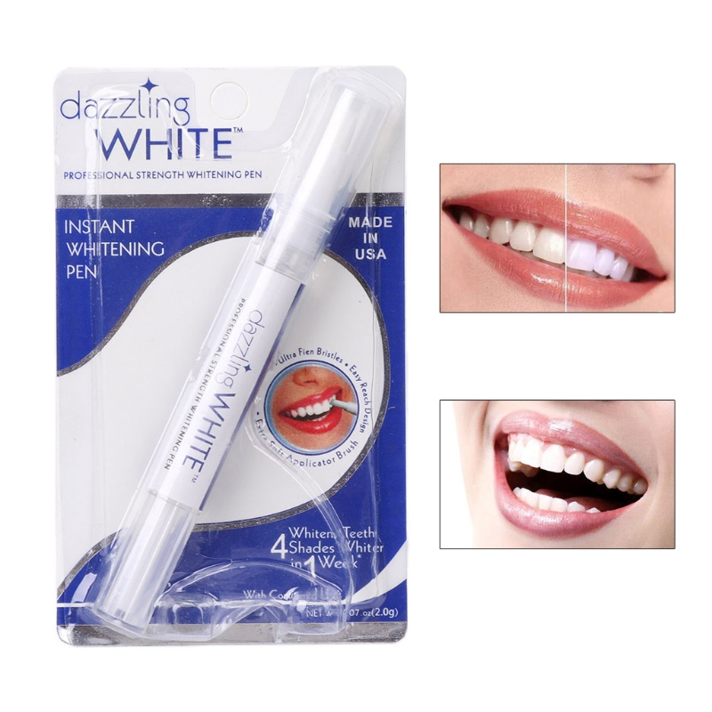 Popular White Teeth Whitening Pen Tooth Gel Whitener Bleach Remove Stains oral hygiene Peroxide Gel Tooth Kit Dental White(China)