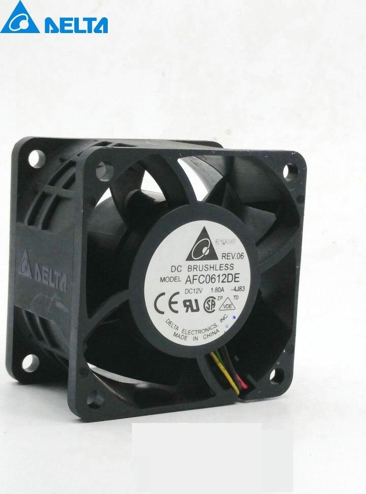 Delta New 6CM winds of 6038 12V 1.80A AFC0612DE PWM fan speed control intelligent 60*60*38mm