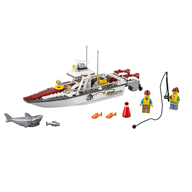 Bela 10646 Compatible with Legoe City Urban Fishing Boats 160PCS+ Building Blocks Bricks Toys Gift for children