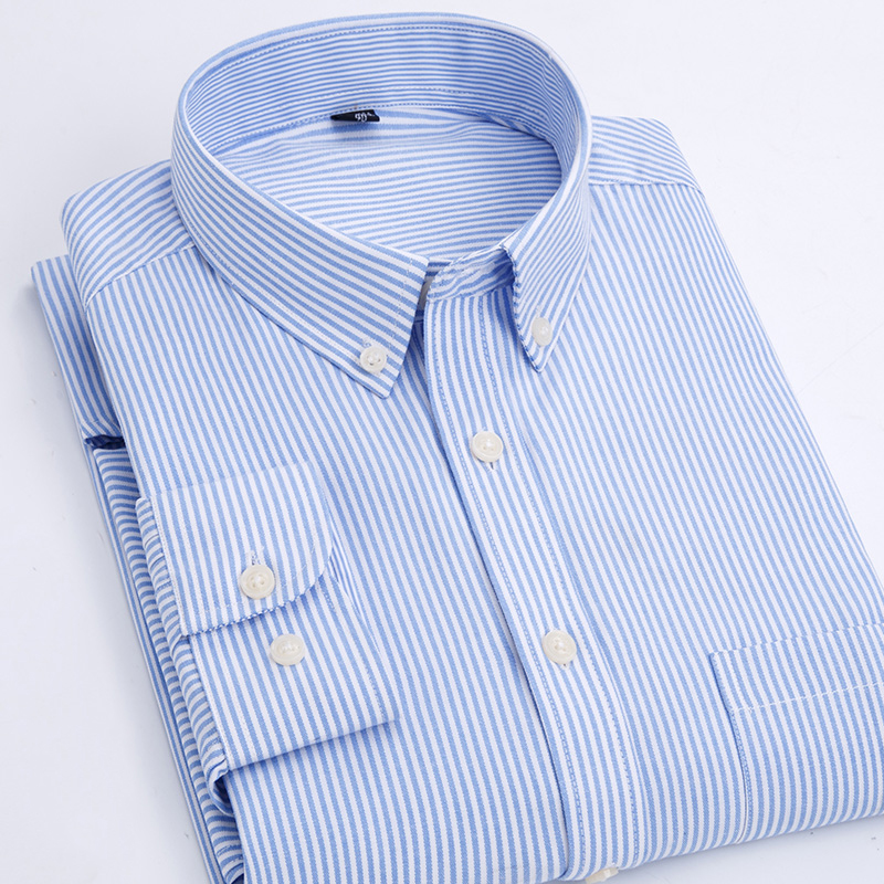 2018 Autumn New Men's Shirt Classic Business Casual Cotton Oxford Shirt