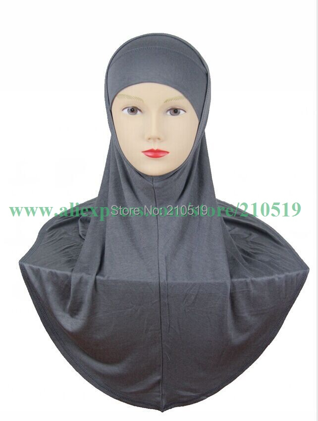 Newest high quality ISLAMIC HIJAB al amira 2pcs solid color softy mercerized cotton TWO piece MUSLIM