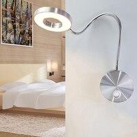 5 Вт светодио дный светодиодные шланги настенный светильник гибкий домашний отель прикроватная лампа для чтения настенный светильник совр...
