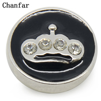 Alloy Snap Button Beads Jewerly For 18mm Snap Button Bracelet