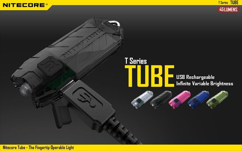 Nitecore Tube Rechargeable USB LED Pocket Keychain Pocket EDC Flashlight Without Battery