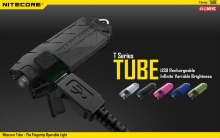 Nitecore Tube Rechargeable USB LED Pocket Keychain EDC Flashlight Black