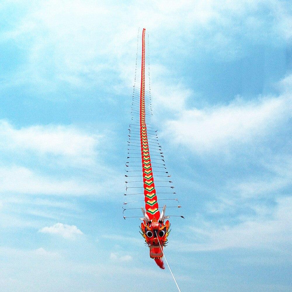 Artisanat traditionnel chinois tête de Dragon mille-pattes enfants cerf-volant sept mètres de Long en plein air parent-enfant - 6