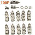100pcs Pushrod Connectors Linkage Stoppers D2.1mm D1.8mm D1.3mm For RC Airplane Replacement Spare part Remote Control Plane