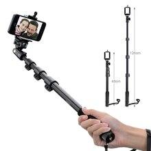 UJM Selfie Yunteng 188 מצלמה מוט להארכה כף יד חדרגל מקל DSLR חצובה + מחזיק טלפון iPhone סמסונג סוני A7 A7RII
