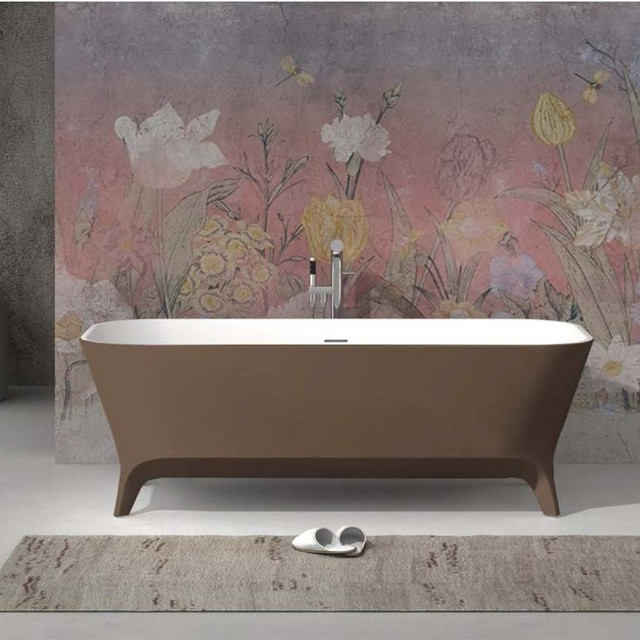 1800x800x600mm FREESTANDING SQUARE SOLID SURFACE BATHTUB QUARTZ ...