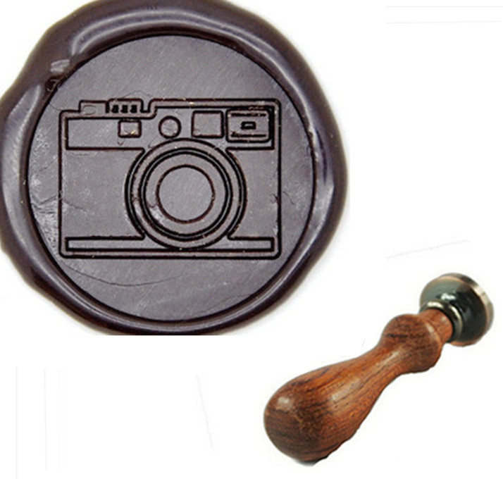 Retro Camera Wax Seal Stamp, Great For Embellishment Of Envelopes, Invitations, Wine Packages, Greeting Cards, Etc