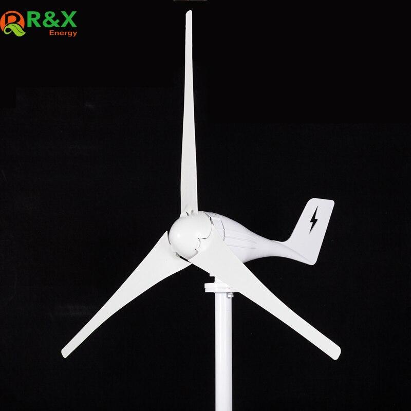 400 W AC horizontal éolienne à axe générateur 12 V/24 V et MPPT contrôleur de l'énergie éolienne