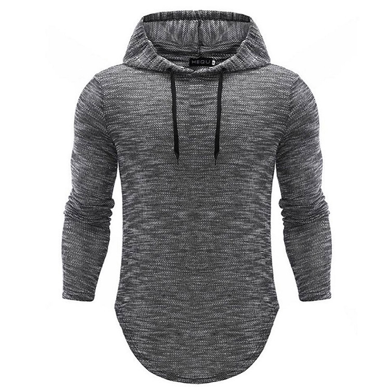 Autumn Long Sleeve Hooded T Shirt Vintage Mens Slim Fit Pullovers T-Shirt Male Tee Shirt Tops Drop Shipping