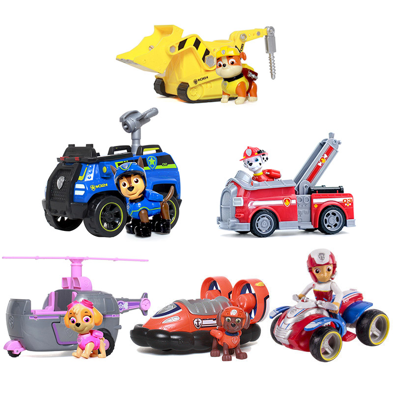 Genuine Paw Patrol Dog Puppy Patrol Car Patrulla Canina Action Figure Model Marshall Chase Ryder Birthday Gifts Toy For ChildrenGenuine Paw Patrol Dog Puppy Patrol Car Patrulla Canina Action Figure Model Marshall Chase Ryder Birthday Gifts Toy For Children