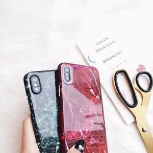 Image 5 - 30PCS Luxury Marble Granite Stone Cover For iPhone XS Plus Cute Soft TPU Case For iPhone XS MAX Case Silicon Case Capa