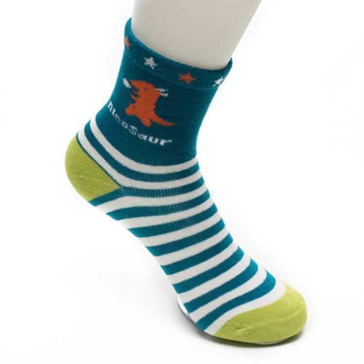 5 pairs Children Socks Spring Autumn New Cotton Cute Cartoon Dinosaur Pattern Boys Socks Girls Socks 2 12 Year Kids socks in Socks from Mother Kids