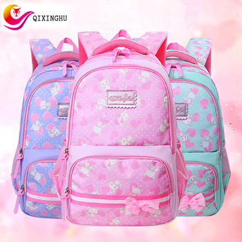 QIXINGHU New Female School Bag Fresh Cartoon Printed Schoolbag Girl Bookbag Middle Student Primary School Backpack Kid Backbag girl printed medium paper bag