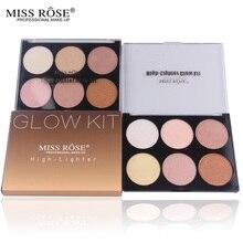 Highlighter Shimmer Paleta de Contorno Maquiagem Em Pó Cores Ilumine Bronzers Highlighteres Long-Lasting Brilho Kit de Beleza Cosméticos