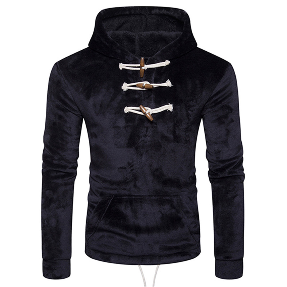 Coral Velvet Hoodie Harajuku Warmer Coat Plus Size Tracksuit Hooded Hip Hop Men Streetwear Fashion Pullover Casual Sweatshirts