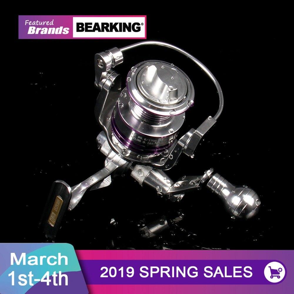 Новый 2017 Bearking 3000 4000 спиннинг металлический Рыболовная катушка 10 + 1BB, передаточное число 5,2: 1, горячая распродажа! Рыболовная катушка колеса с...