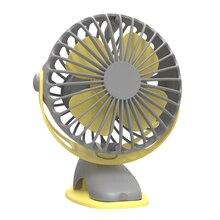 4000Mah Portable Cooling Mini Usb Fan 4 Speeds 360 Degree All-Round Rotation Rechargeable Air Fan Usb Charging Desktop Clip Fa цена и фото