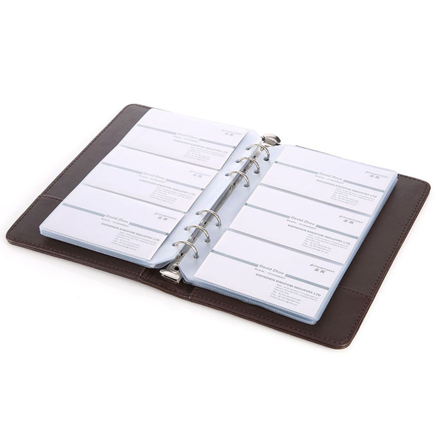 Professional creative design business card holder book card professional creative design business card holder book card organizer with ring binders for 120 cards blackbrown in card stock from office school colourmoves