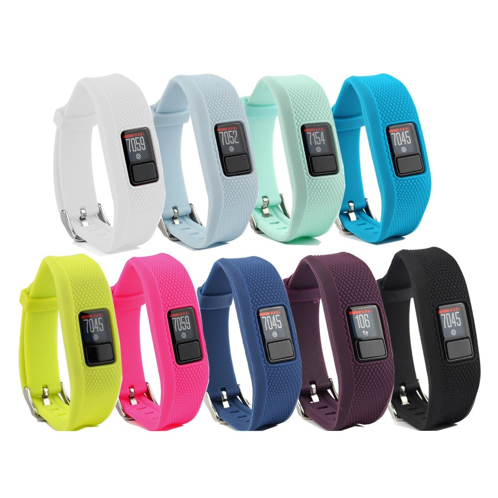 (JM3GJSS) For Garmin Vivofit 3 Band Replacement Wristband Strap Accessory With Metal Clasp For Garmin Vivofit 3/Vivofit Jr