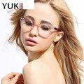 YUKII Plain Eye Glasses Mulheres Doces Cor do Quadro Optical Óculos Feminino Óculos de Charme