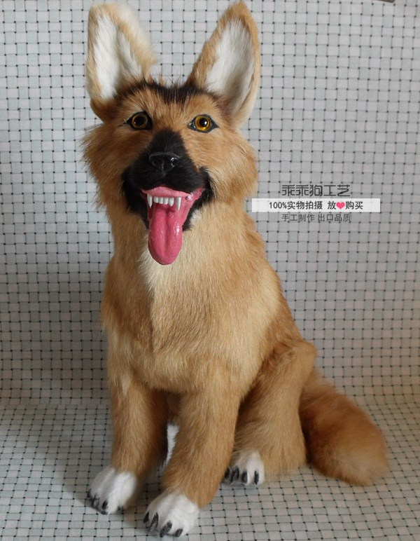 simulation cute squatting wolfhoung 42x30x14cm model polyethylene&furs dog model home decoration props ,model gift d867 simulation animal large 28x26cm brown fox model lifelike squatting fox decoration gift t479