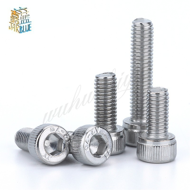 20Pcs M4 M5 M6 DIN912 304 Stainless Steel Hexagon Socket Head Cap Screws Hex Socket Bicycle Bolts HW003 cnbtr 10mm hollow square hole saw mortiser chisel auger drill bit woodworking tool