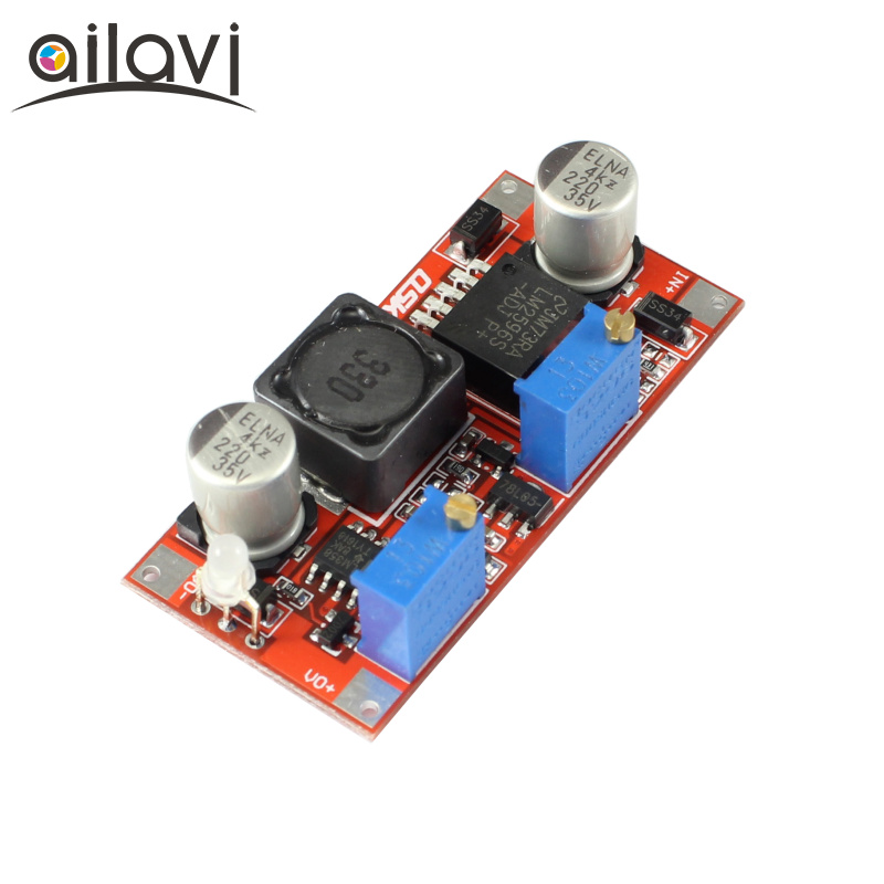 DC-DC Buck Converter 7-35V to 1.25-30V 3A 15W Step-down Constant Current Constant Voltage (CC CV) Charger Module LM2596