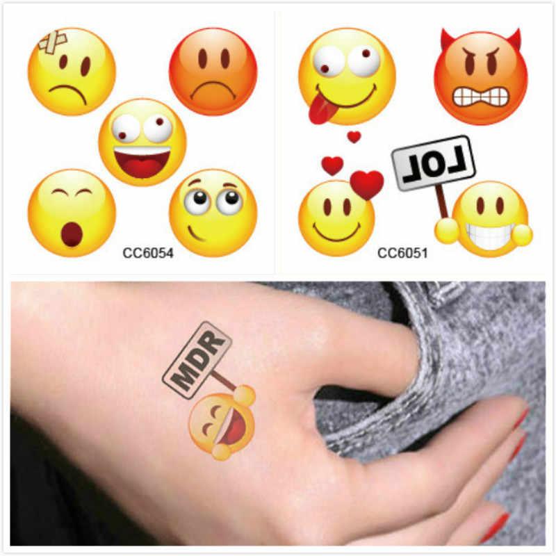 1 Set Naughty Emoji Stickers Regenboog Eenhoorn Cartoon Sticker tol Gift Speelgoed Jongen Meisje Kinderen Watermerk Tattoo