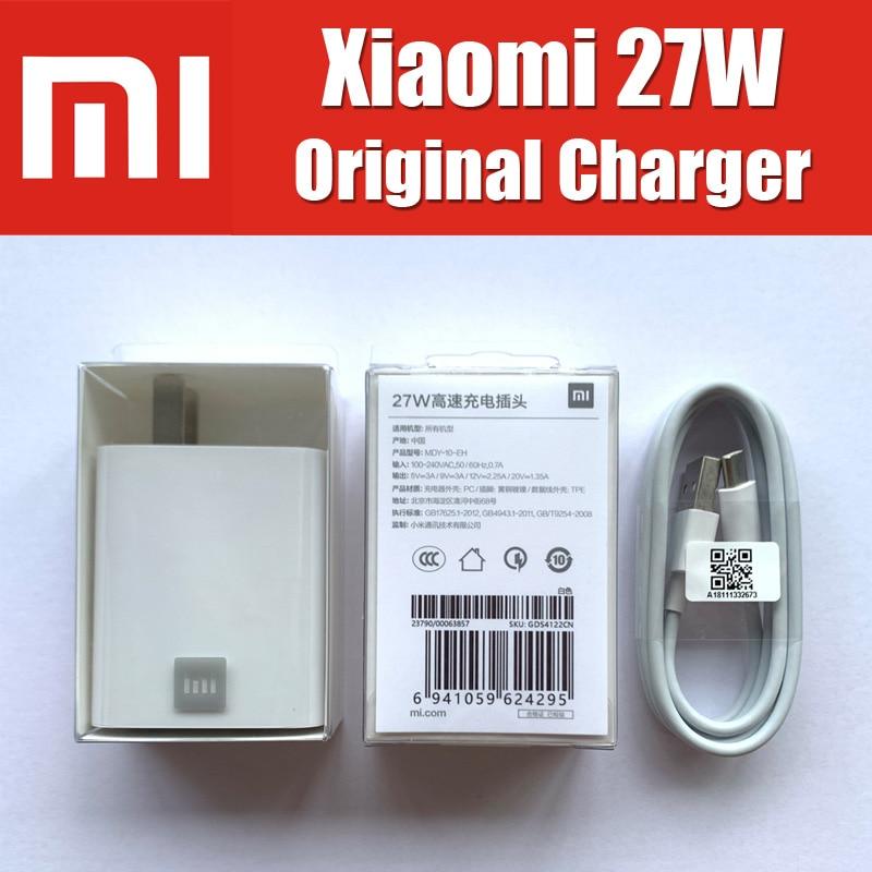 MDY-10-EH Für Xiaomi Mi9 Ladegerät Original 27W QC4.0 Hohe Geschwindigkeit Ladegerät EU Adapter Für Xiaomi Mi9T CC9 Redmi K20 pro Hinweis 8 Pro