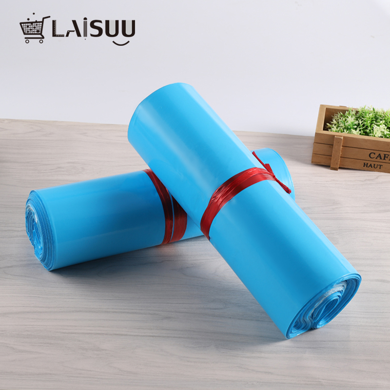 100pcs 6 7 10 inch 17 26 cm Blue Poly Mailers Boutique Shipping Bags Couture Envelopes in Paper Envelopes from Office School Supplies