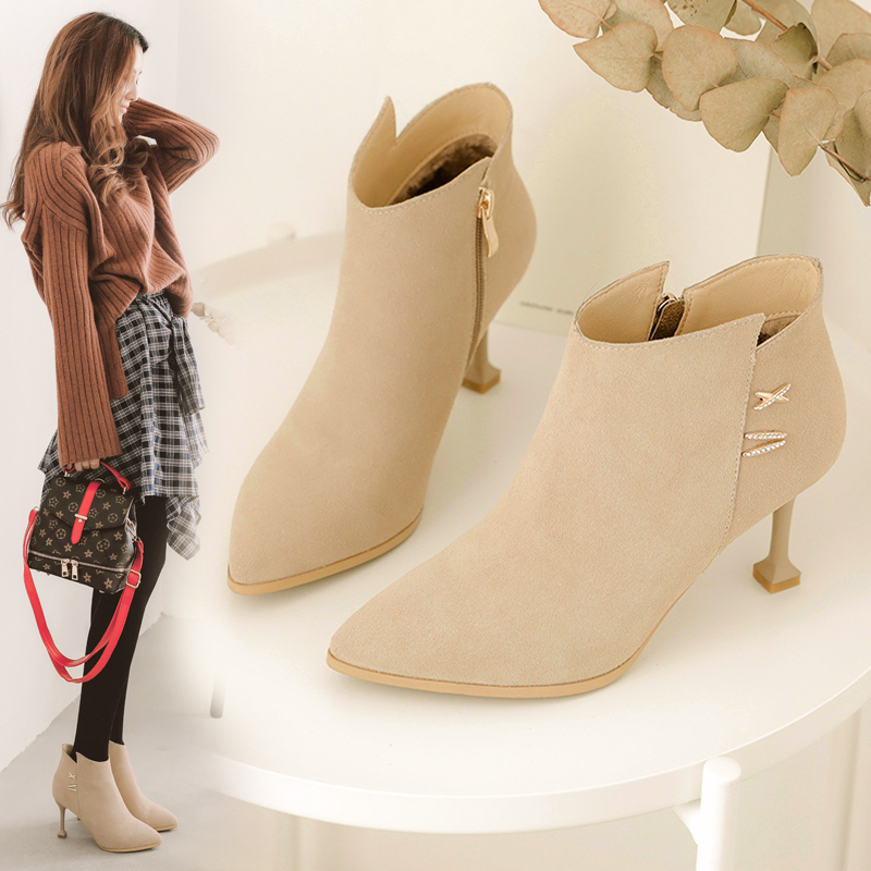 MYCOLEN Warm Women Winter Boots New Fashion Soft Leather Chelsea Boots Women Pointed Toe Ankle Boots for Women Winter Shoes new arrival women boots nubuck leather pointed toe winter shoes ankle boots fashion martin boots metal decration chelsea boots
