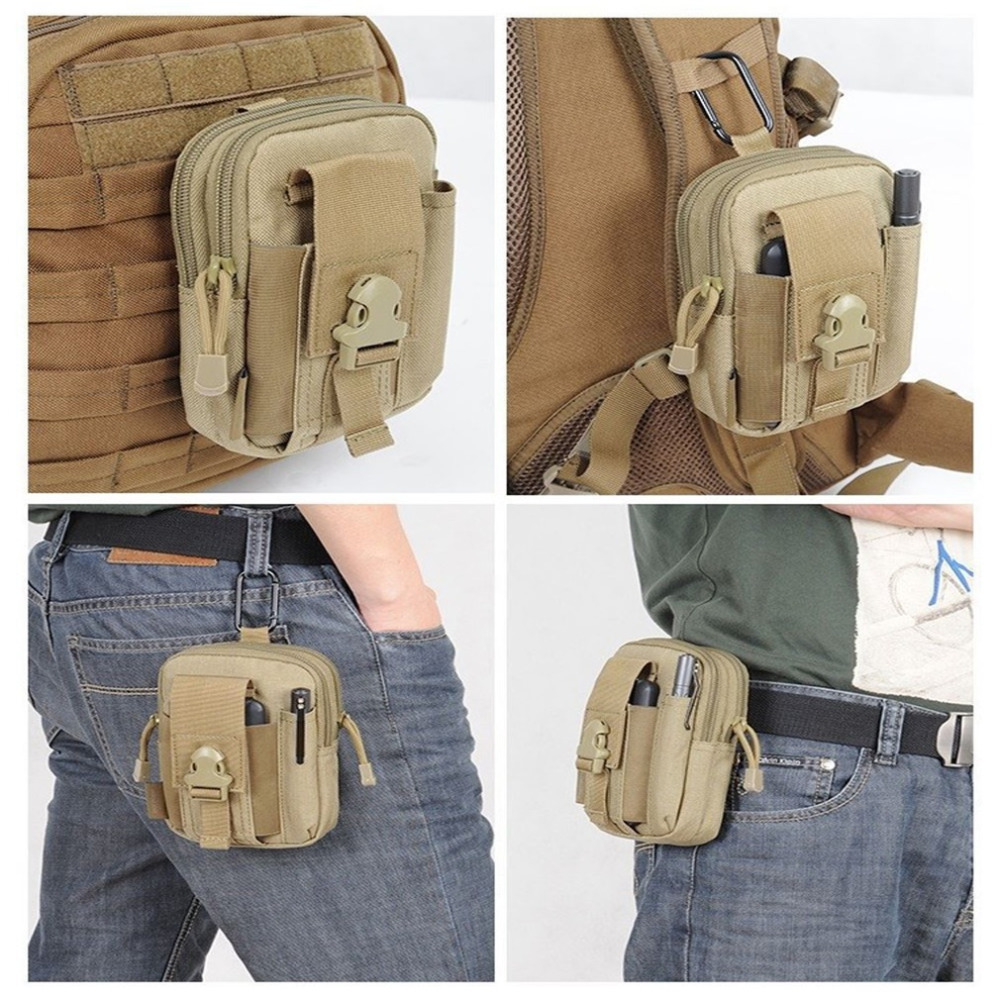 Outdoor Tactical Waist Oxford Pack Belt Bag Camping Hiking Phone Pouch Wallet