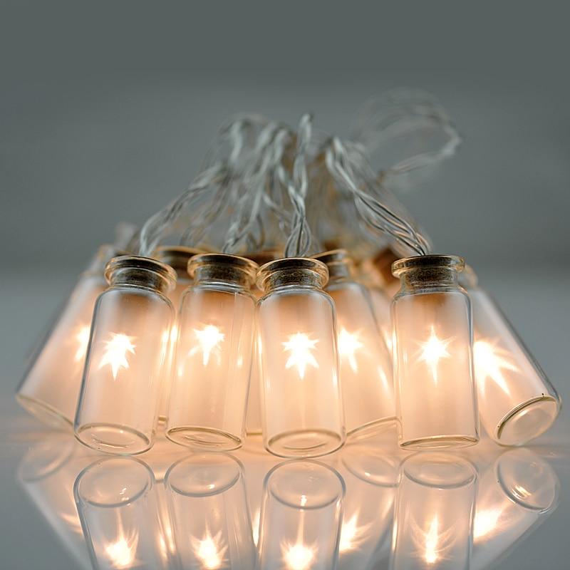 Glass Jar String Lights : 8 Modes Vintage Glass Jar LED Fairy Lights Christmas String light With 20 Warm White LED Battery ...