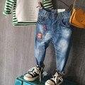 Nueva Llegada Niños Pantalones Vaqueros de Los Bebés de Mezclilla Vaqueros de Los Pantalones Vaqueros Largos Ocasionales de Primavera Atutumn Niños Pantalones