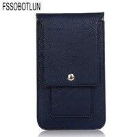 FSSOBOTLUN 4 Colors Universal Double Portable Waist Belt Clip Holster Mobile Phone Case For UHAPPY UP580