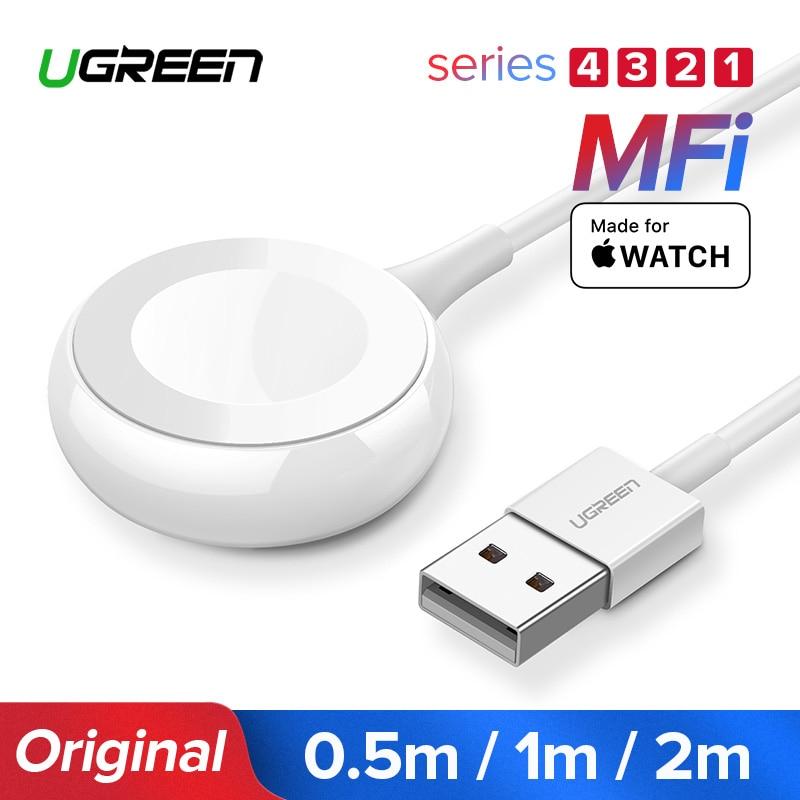 Ugreen Ladegerät für Apple Uhr Ladegerät MFi Drahtlose Magnetic Charging USB Kabel 1 mt Adapter für Apple Uhr Serie 4 3 2 kabel